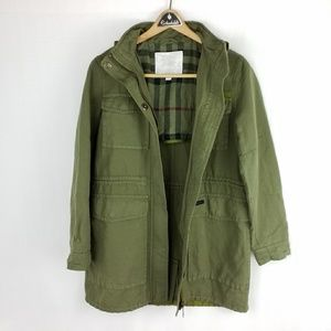Burberry Children 14Y Utility Jacket Green Hood